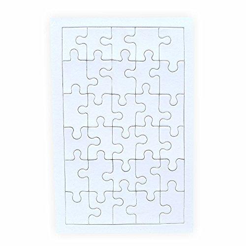 Creleo 790089 Puzzle zum bemalen Viereck, 30 Teile, 10 Stück, selbst gestalten mit Rahmen