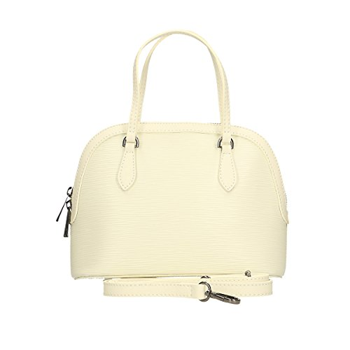 Chicca Borse Borsa a mano in pelle 24 x 18 x 13 100% Genuine Leather Beige