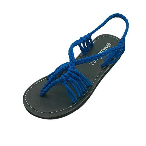 Sandali Scarpe da Donna Kword Flip Flops Traverse Donna Intrecciato Scarpe Romane Spiaggia Sandali Estate Pantofole Donna Ragazze (EU:36, Nero)