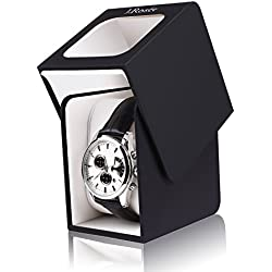 J.Rosée Watch Box Black Display Case Rubber Paintcoat Organizer with Pillow