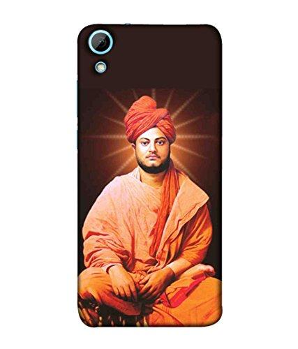 Sibu Print Youth Icone Spiritual Guru Swami Vivekananda Image Designer Printed Polycarbonate Matte Finish Hard Back Case Cover for HTC Desire 628