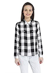Only Womens Casual Shirt (_5713231233998_Black_Large_)