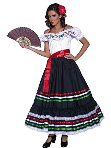 Confettery Damen Frauen Western Spansiche Tanzerinen Kostum Mit