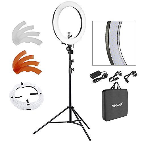 Neewer 18 Zoll LED Ringlicht dimmbar für Kamera Foto Video Make-up