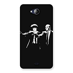 Beautiful Gang with Gun Back Case Cover for Canvas Play Q355