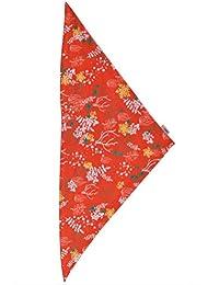 Mädchen Dreieckstuch orange mit Muster ökologisch