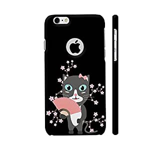 Colorpur iPhone 6 / 6s Logo Cut Cover - Japanese Cat With Cherry Blossoms Printed Back Case