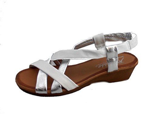 Rebelde , Damen Sandalen Weiß