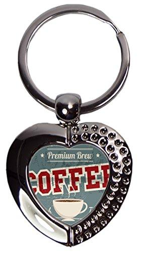 Schlüsselanhänger Kaffee Premium Brew Coffee Herz Bedruckt -