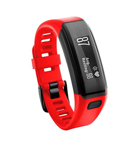 ZEZKT-Uhrenarmband ┇ For Garmin Vivosmart HR Uhrenarmband   Silikon Band-Armband Sportband Uhrenarmbänder Mit Belüftung Löcher   Dekoration Armbanduhr Watch Straps (Rot)