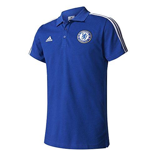 adidas CFC 3S Polo Chelsea FC Uomo, Blu (Cheblu / Bianco), M