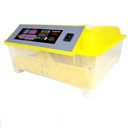 Sailnovo incubatrice automatica di uova, incubatore intelligente digitale con schermo a led di temperatura e sensore di temperatura preciso (48)