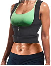 337e47238d Women Hot Sweat Neoprene Weight Loss Tank Top Shirt Waist Trainer Vest  Zipper Corset Body Shaper