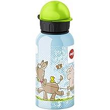 Emsa Granja - Botella infantil, 0,4 l, sistema de cierre hermético, higiénico, seguro y práctico, 100% libre de BPA