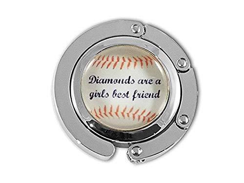 Damen Baseballbügel Mädchen Baseball Geschenk Glas Aufhänger Team Geschenke Diamonds Are a Girl's Best Friend Damen Baseball Fan