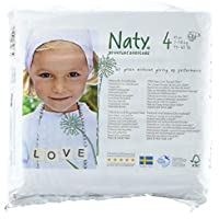 Naty by Nature Babycare Couches Écologiques Jetables Taille 4 Maxi 7-18 kg - Pack de 4 x 27 Couches (108 unites)