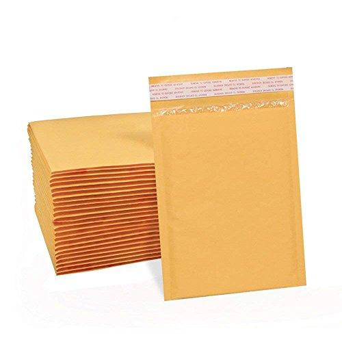 Versandbox Plus AZ003# 06x 10Gepolsterte Briefumschläge Kraft Bubble Versandtaschen Gold Blase Umschläge 50Stück