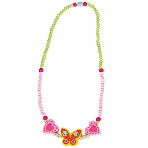 Bino 9989035 - Halskette Schmetterling, gelb