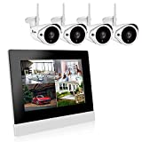 Luowice Wireless Security Camera System Outdoor Wifi CCTV Home Monitor Systems 1080P CCTV Video Monitoring Surveillance Kits 2.0 Megapixel IP Cameras NVR Pre-installed 1TB HDD 100ft Night Vision