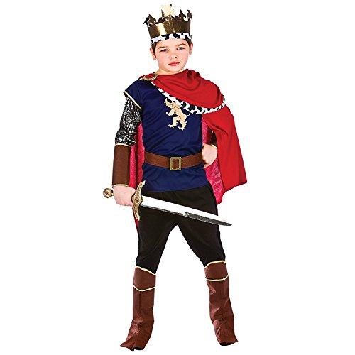 Jungen Deluxe Mittelalter König Kostüm (Mittelalter Kostüme Kinder König)