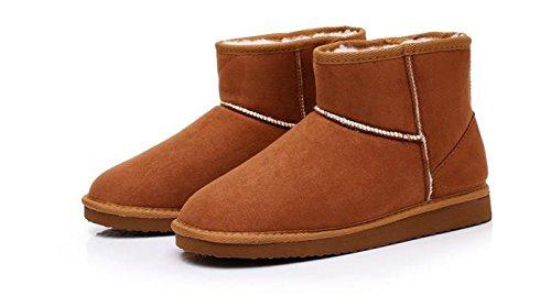 Minetom Donna Classic Mini Neve Stivali Autunno Inverno Calzature Female Moda Flats Shoes Marrone
