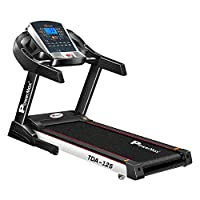 PowerMax Fitness TDA-125 (4HP Peak) Motorized Treadmill with Free Installation, Home Use & Automatic Incline