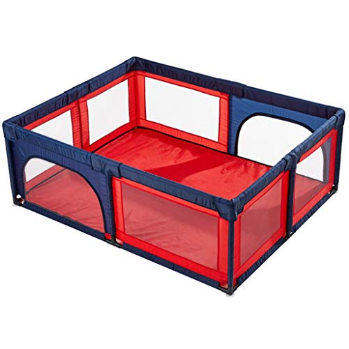 Parque infantil parques bebes Valla de seguridad para niños pequeños extra grandes para gemelos, bebés pequeños Área de actividad plegada portátil para guardería en interiores al aire libre