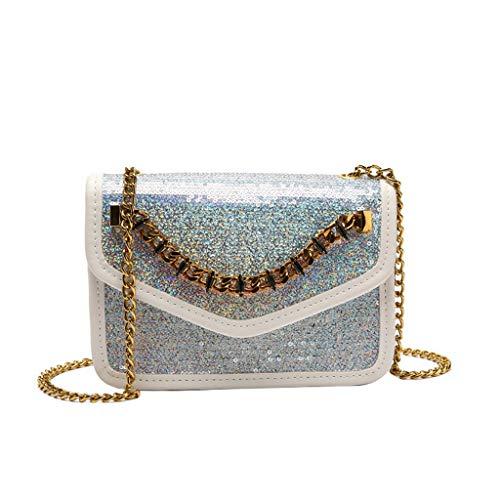 Mitlfuny handbemalte Ledertasche, Schultertasche, Geschenk, Handgefertigte Tasche,Damenmode Pailletten Crossbody Umhängetaschen Geldbörse Messenger Bag