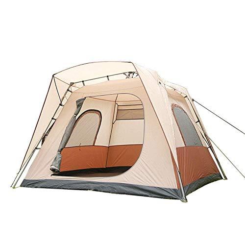 DLLzq Zelte Automatisches Zelt 1 Sekunde Geschwindigkeit Offen 5-8 Personen Atmungsaktives Schiebedach Camping Zelt,Beige