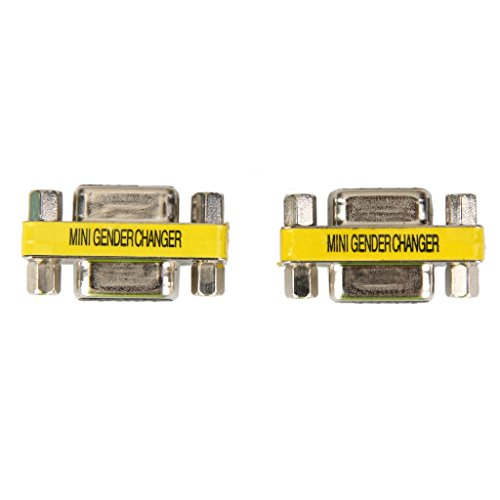 Generic 2pcs 9Pin RS232 DB9 Female to Female Serial Cable Gender Changer Adapter  available at amazon for Rs.248
