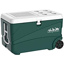 Cosmoplast Keep Cold Plastic Cooler Icebox Deluxe 84 Liters with Wheels