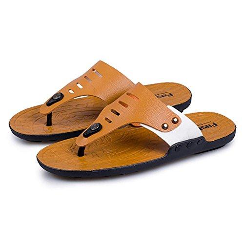 Flip Infradito Uomo Shangxian Scarpe Casuali Pantofola Giallo Da Flop Arancio Unisex x0qwUXdZw