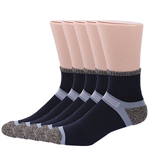 RioRiva Calze sportive, Calzini Sport Uomo, Confezione da 5 (EU 41-48, MSSK05- 5 (Adidas Mens Infradito)
