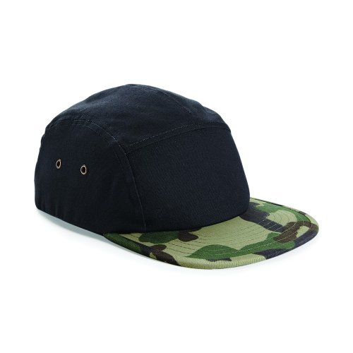 Beechfield - Casquette de baseball camouflage - Homme Noir/Camouflage jungle