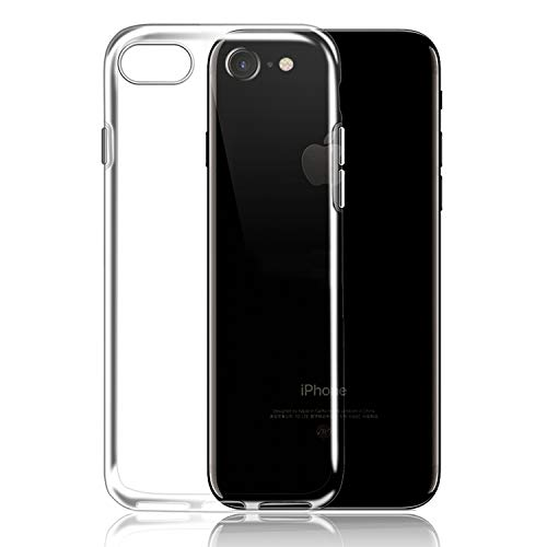 Ylife Hülle Kompatibel iPhone 8, Hülle Kompatibel iPhone 7, Ultra Dünn Transparent Weiche Silikon TPU Handyhülle, Anti-Fingerabdruck, Anti-Kratz Schutzhülle, Clear Case Cover
