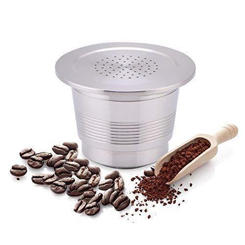 Kaffee-Kapseln für Nespresso-Kaffeemaschine, aus Edelstahl, unbegrenzt verwendbar
