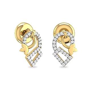 PC Jeweller The Dedrik 18KT Yellow Gold and Diamond Stud Earrings for Women