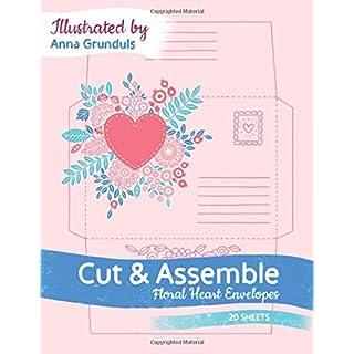 Cut & Assemble: Floral Heart Envelopes, 20 Sheets