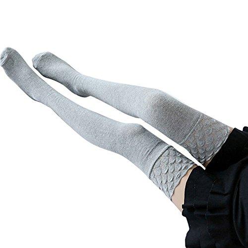 bobo4818 Frauen über dem Knie Gestrickt lange Stiefel Oberschenkel hoch Warme Sockengamaschen ()