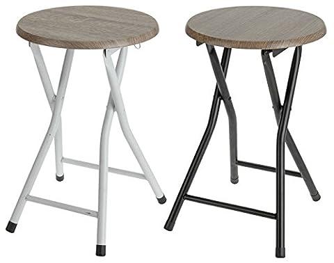 Tabouret pliant en bois–chaise pliante, tabouret–Tabouret avec assise ronde