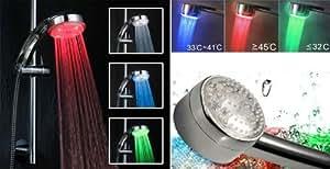 Doccia LED LUMINOSA a LED 3 colori LED Shower DOCCETTA SOFFIONE