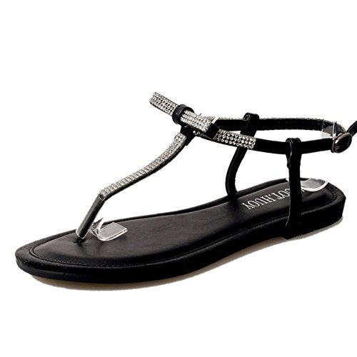 Sommer,flach,clip toe,damen sandalen/joker damenschuhe fashion-A Fußlänge=24.3CM(9.6Inch) (Ted Baker-flache Sandalen)