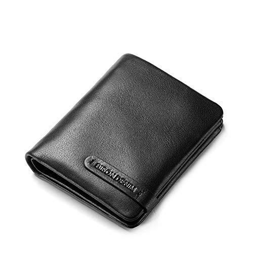 Herren Kurz Zip Wallet - Hochwertiges Leder Design Mit Münzfach Geldbörse Pocket-zip-design
