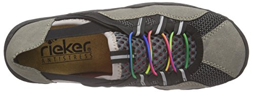Rieker - L0575 Women Low-top, Scarpe da ginnastica Donna Grigio (Grau (staub/schwarz/grau-pink / 42))