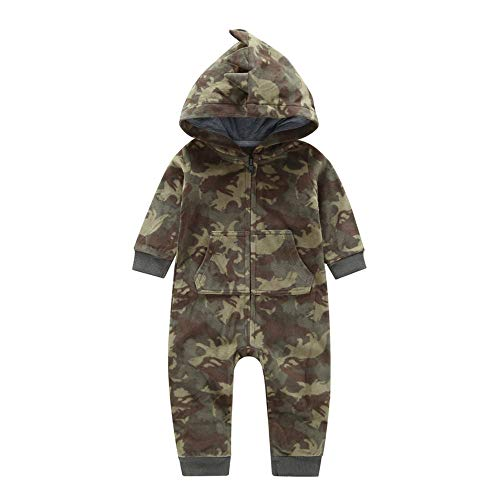 Pochers Pochers Neugeborenes Baby Boy Camouflage Mit Kapuze Strampler Overall Outfits Warme Kleidung