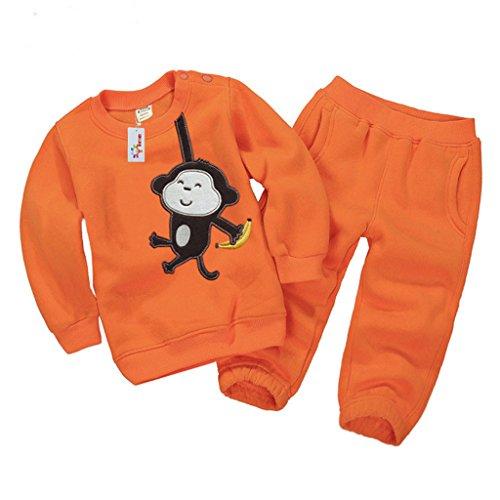 Vine Felpe per Bambini Vestiti Casuali dei Bambini Abbigliamento Prima Infanzia Vello Manica Lunga Tops (Abbigliamento bambino)