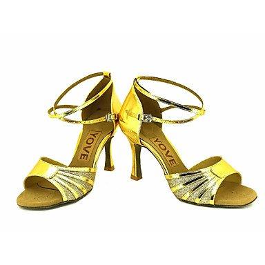 XIAMUO Anpassbare Frauen Beruf Tanz Schuhe Blau