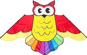 Invento 105102-Owl Kite Niños Dragón einleiner, a Partir de 5años, 85x 145cm Poliéster Ripstop 2-4Beaufort