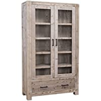 Comparador de precios Casa-Padrino Country Style Cabinet Natural Colors 104 x 40 x H. 180 cm - Living Room Cabinet in Country Style - precios baratos