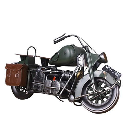 NAZIL Retro Motorrad Modell, Manuelle Eisen Kunst Motorrad Handwerk Fenster Bar Dekoration Sammlung Dekoration Spielzeug Souvenir Freund Geschenk, Weihnachtsdekoration, Geburtstagsgeschenk (Dekoration Auto Kit Weihnachten)